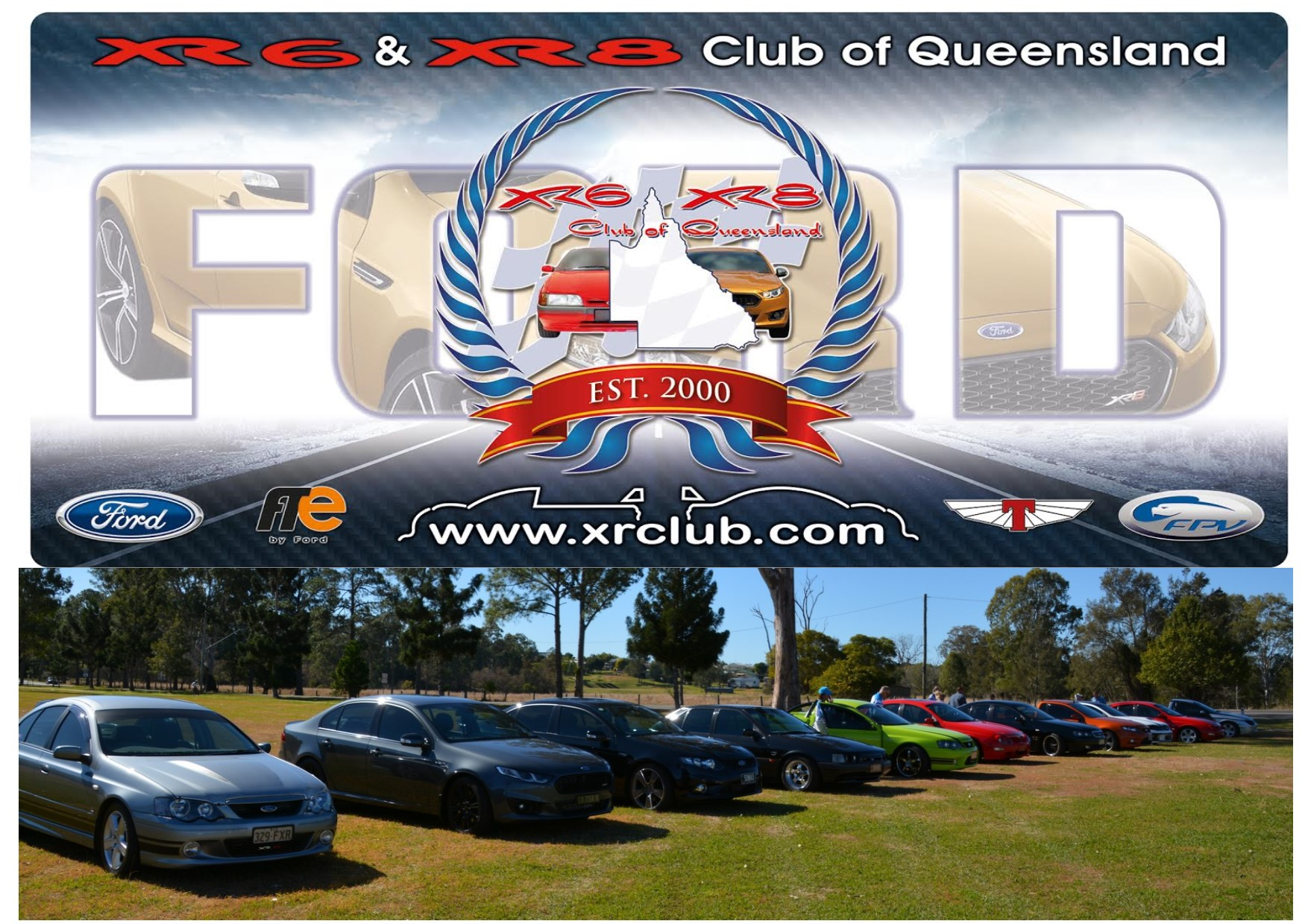 Family at XR6 & XR8 Club of Queensland
