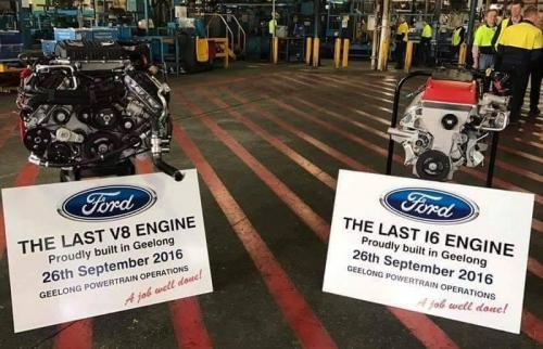 Last Engines built at Ford Australia